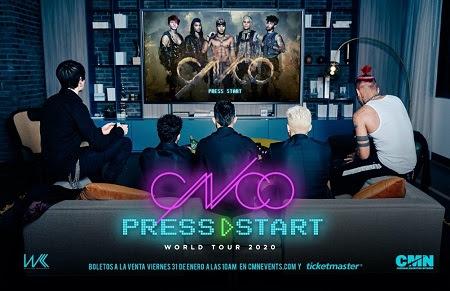 "CNCO anuncia su gira ""PRESS START TOUR"""