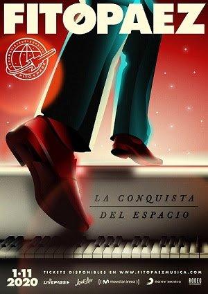 """FITO PAEZ presenta """"LA CONQUISTA DEL ESPACIO"""" 1 de noviembre – 21:00hs. (ARG) – 8:00 PM (EST) Un concierto desde Movistar Arena (Buenos Aires) ¡Para todo el mundo!"""