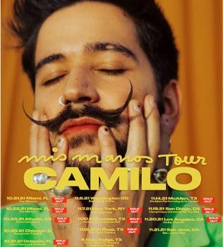 CAMILO agota todas las entradas de su primera gira nacional MIS MANOS TOUR