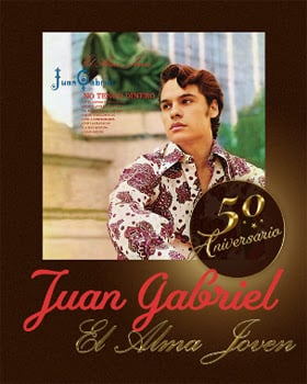 El Estate de JUAN GABRIEL en colaboración con Sony Music México celebra los 50 años de JUAN GABRIEL #ElDivodeJuárez y de su álbum debut El Alma Joven